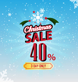 christmas sale 40 percent typographic background vector image vector image