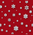christmas seamless decoration with paper vector image