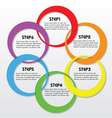 Circle abstract label vector image vector image