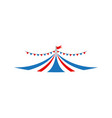 circus tent graphic design template isolated vector image vector image