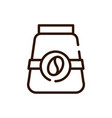 coffee container product market line design vector image