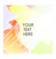 colorful background with typography design vector image vector image