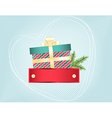 Colourful Christmas and New Years card vector image