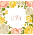 Complimentary rose frame vector image vector image