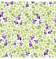 cream pattern with viola vector image vector image