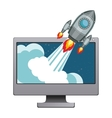 Device and start up concept design vector image