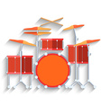 Drum kit icon Flat design vector image vector image