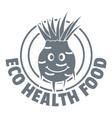 eco food logo simple gray style vector image vector image