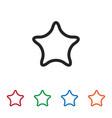 favorite icon vector image vector image