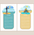 fishing man fishery posters vector image