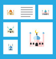 flat icon mosque set of islam architecture vector image vector image