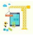 flat style concept mobile app development vector image