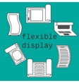 Flexible display smartphone icons flat style vector image