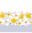 floral seamless pattern flower border background vector image