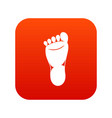 foot left leg icon digital red vector image vector image
