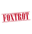 foxtrot vector image vector image