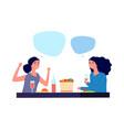 girls conversation woman talking flat female vector image vector image