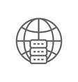 global hosting server data centre line icon vector image vector image