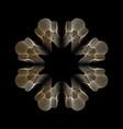 gold line style guilloche flower rosette mandala vector image vector image