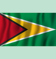 guyana realistic waving flag national country vector image vector image