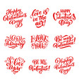 happy valentines day icons with signs or lettering vector image
