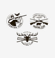 hunting club set labels hunt logo icon vector image vector image