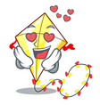in love cute kite flying the on mascot vector image vector image