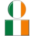 Irish round and square icon flag vector image