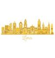 lima peru city skyline golden silhouette vector image vector image