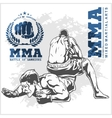 Match two fighters of martial mixed arts vector image vector image