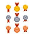 medals icon set vector image