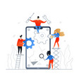mobile repair service - flat design style colorful vector image vector image
