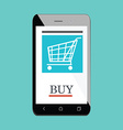 Mobile shopping icon vector image vector image