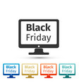 monitor with black friday sale on screen icon vector image vector image