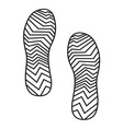 New foot print1 resize vector image vector image