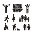 people signs isolated over white background vector image vector image
