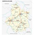 road map region centre val de loire france vector image