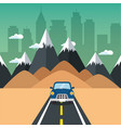 road trip design vector image