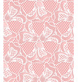 seamless white flower lace pattern retro lace vector image vector image