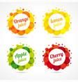 set fresh juice logo concept vector image vector image