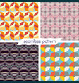 set of four seamless geometrical patterns 13 vector image vector image