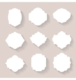 set white silhouette frames or vector image vector image