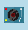 single dj turntable graphic vector image vector image