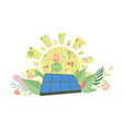solar panel alternative and renewable energy vector image vector image