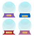 souvenir made glass snow globes with captions vector image vector image