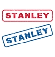 Stanley Rubber Stamps vector image vector image