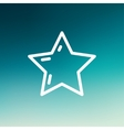 Star or best choice thin line icon vector image