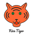 Tiger logo or icon in color wild ca vector image vector image
