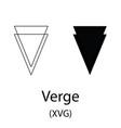 verge black silhouette vector image vector image