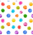Watercolor rainbow spots pattern